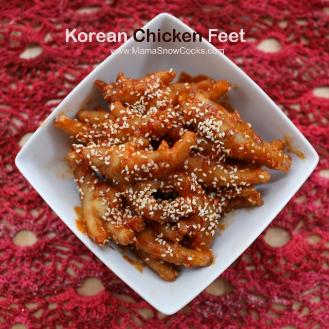 Korean Chicken Feet Mama Snow Cooks And More